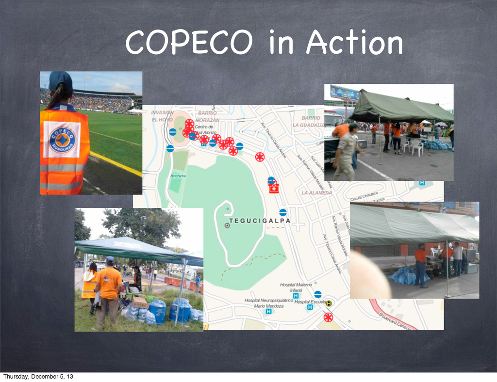 COPECO in Action Thursday, December 5, 13