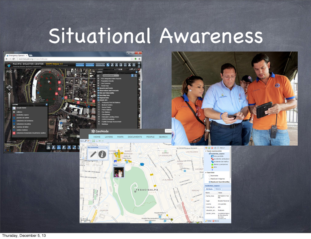 Situational Awareness Thursday, December 5, 13