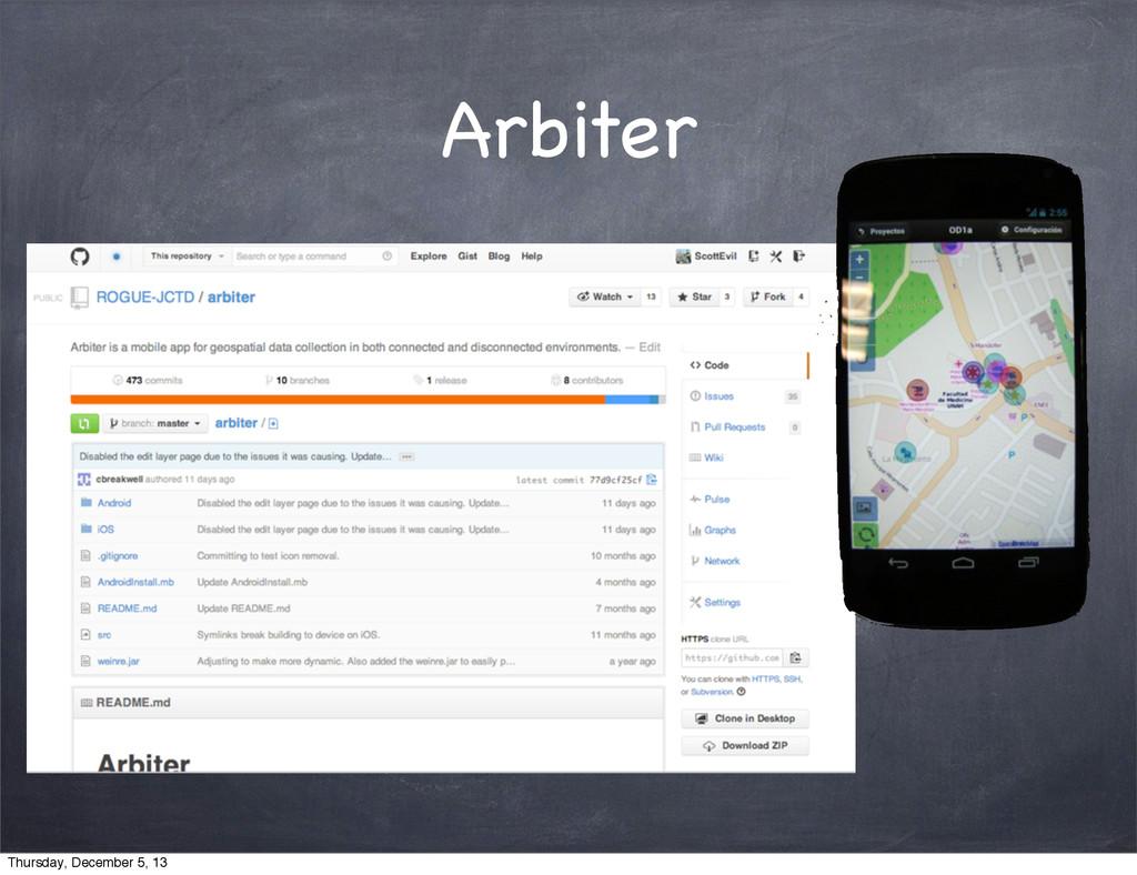 Arbiter Thursday, December 5, 13