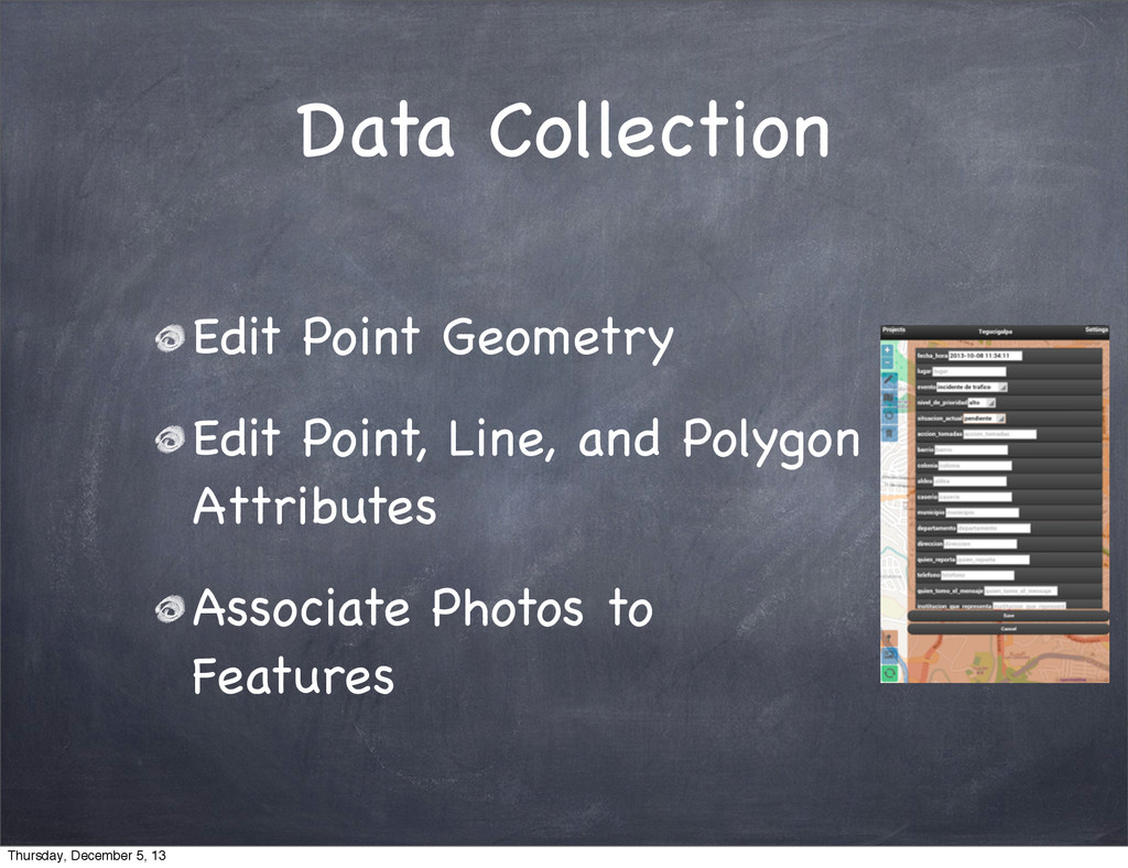 Data Collection Edit Point Geometry Edit Point,...