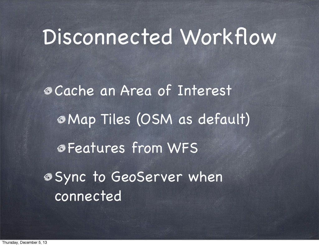 Disconnected Workflow Cache an Area of Interest ...