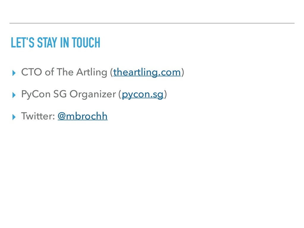 LET'S STAY IN TOUCH ▸ CTO of The Artling (thear...