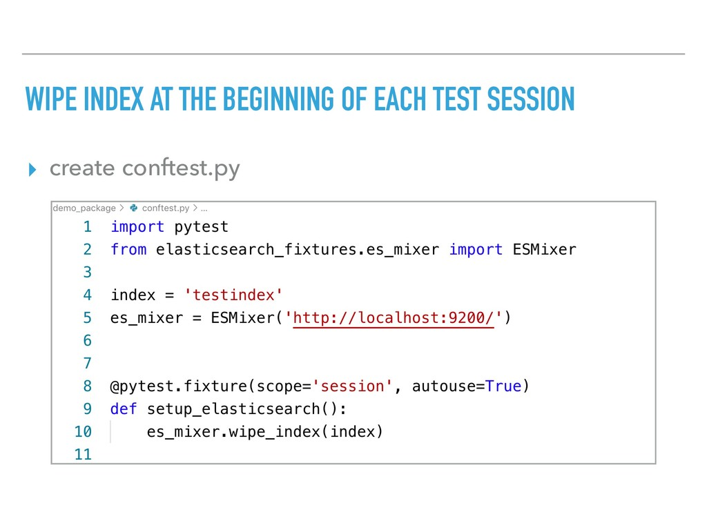 WIPE INDEX AT THE BEGINNING OF EACH TEST SESSIO...