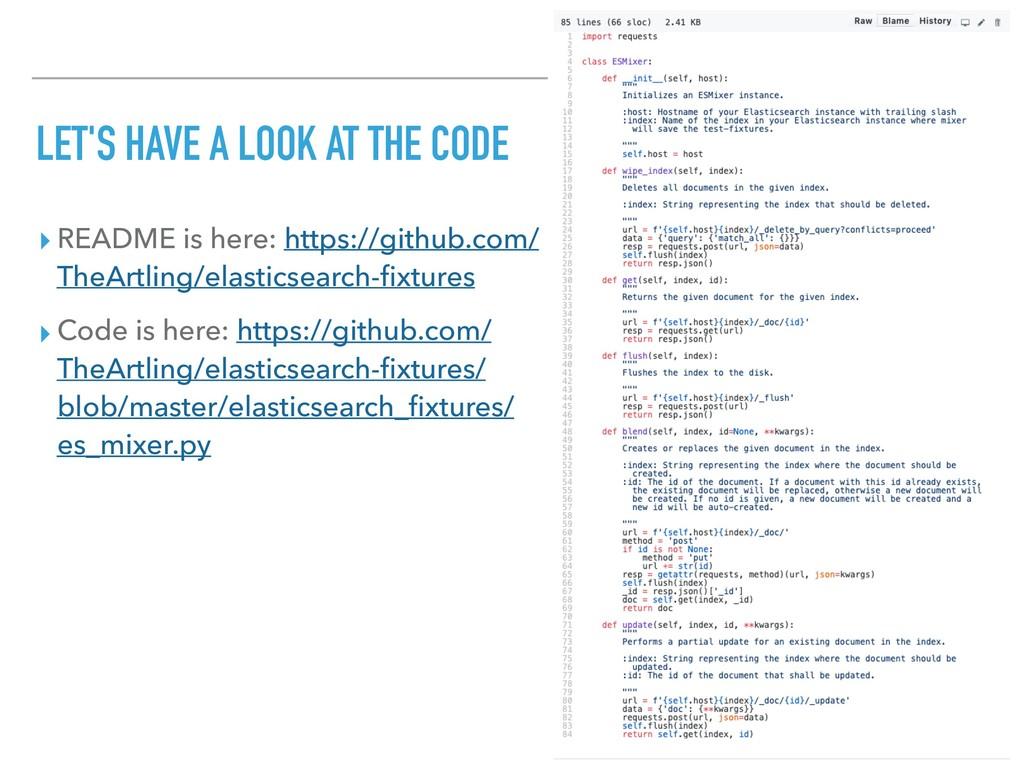LET'S HAVE A LOOK AT THE CODE ▸ README is here:...