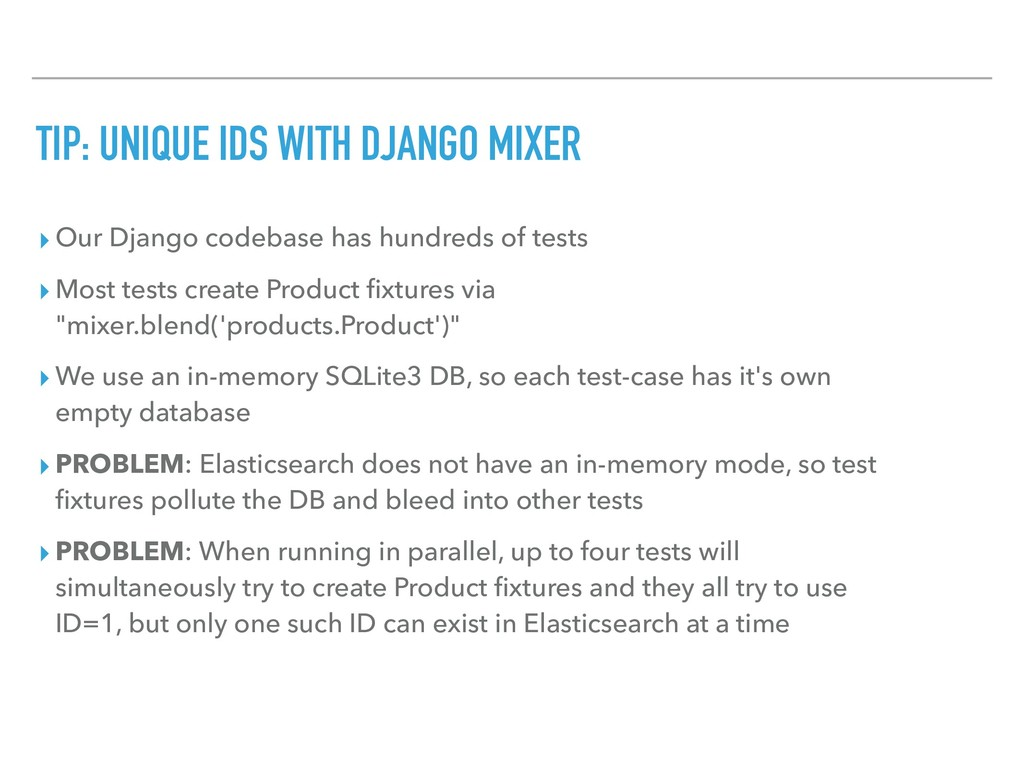 TIP: UNIQUE IDS WITH DJANGO MIXER ▸ Our Django ...