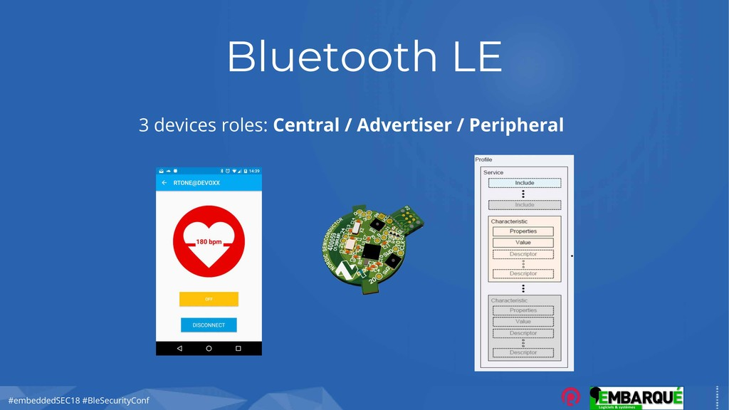 #embeddedSEC18 #BleSecurityConf Bluetooth LE 3 ...