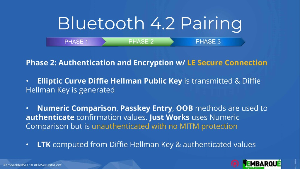#embeddedSEC18 #BleSecurityConf Bluetooth 4.2 P...