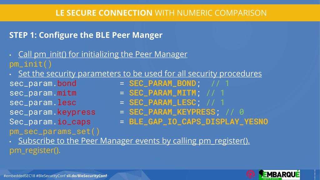 #embeddedSEC18 #BleSecurityConf sli.do/BleSecur...