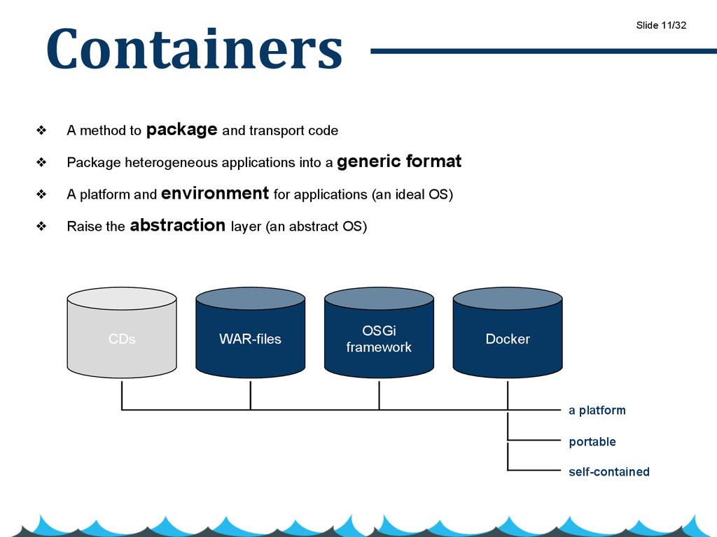Containers ❖ A method to package and transport ...