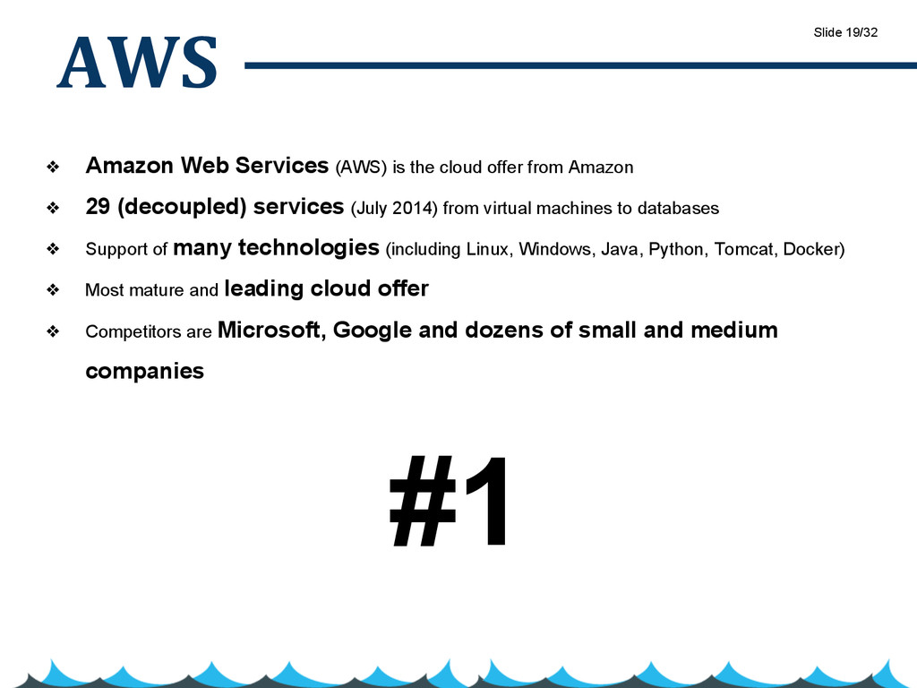 AWS ❖ Amazon Web Services (AWS) is the cloud of...