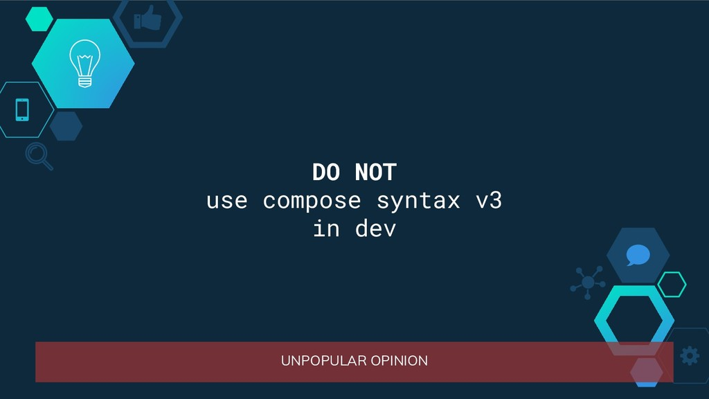 UNPOPULAR OPINION DO NOT use compose syntax v3 ...