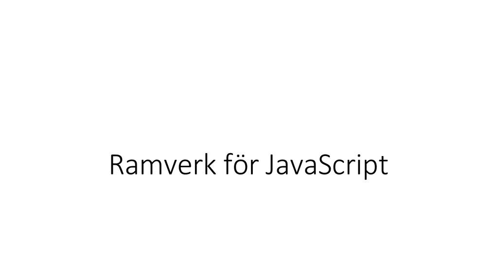 Ramverk för JavaScript