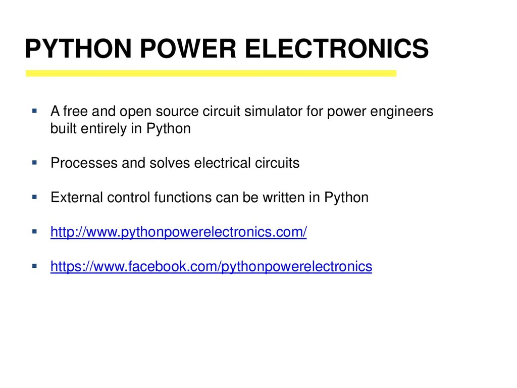 PYTHON POWER ELECTRONICS ▪ A free and open sour...