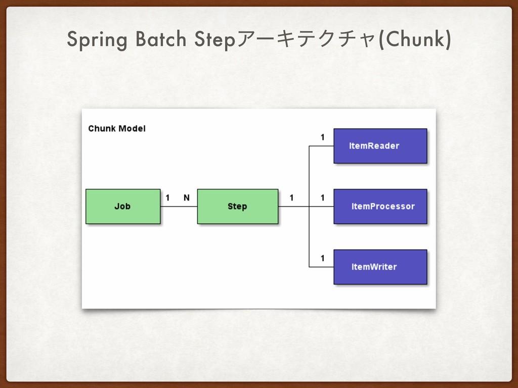 Spring Batch StepΞʔΩςΫνϟ(Chunk)
