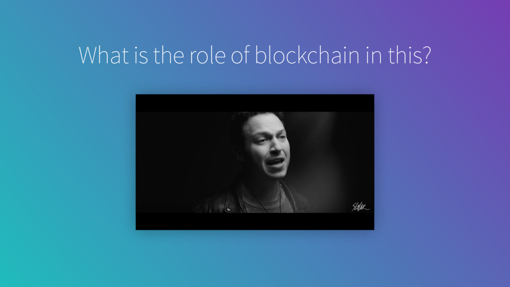 video background What is the role of blockchain...