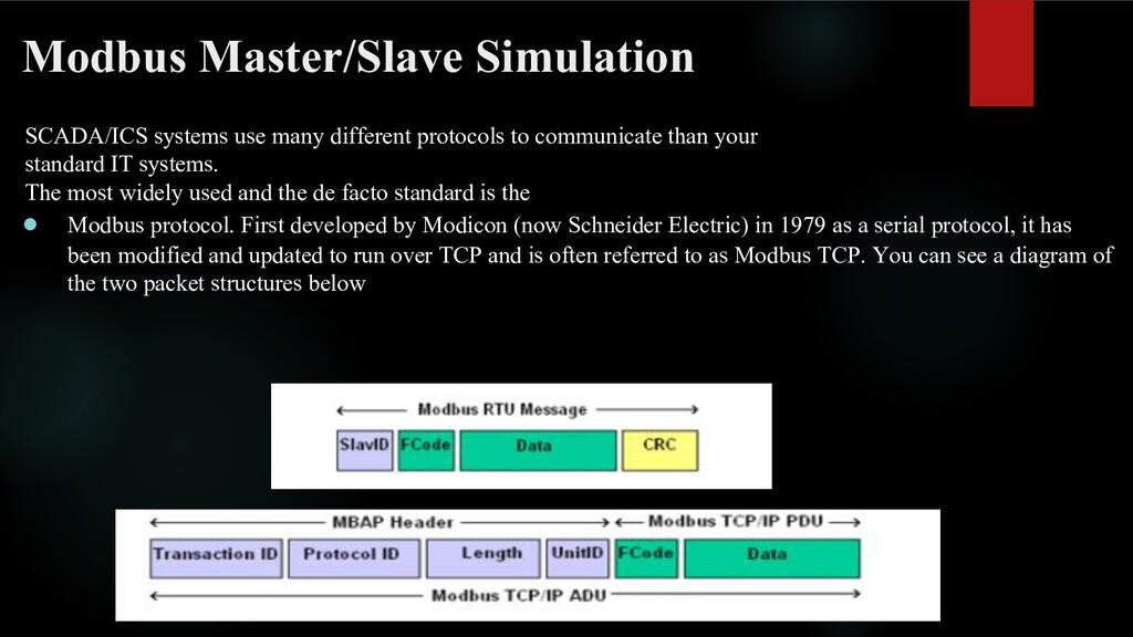 Modbus Master/Slave Simulation SCADA/ICS system...
