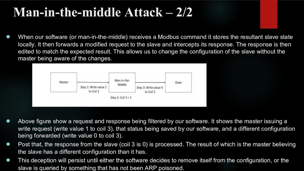 Man-in-the-middle Attack – 2/2 ● When our softw...