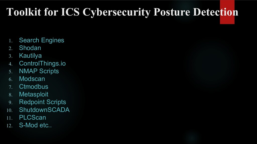 Toolkit for ICS Cybersecurity Posture Detection...