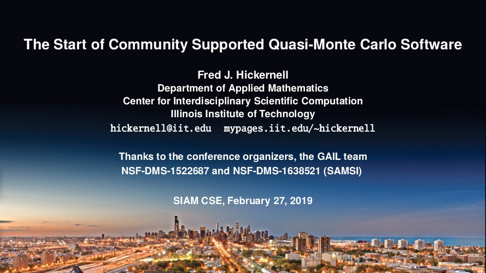 The Start of Community Supported Quasi-Monte Ca...