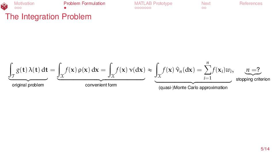 Motivation Problem Formulation MATLAB Prototype...