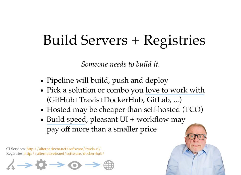 Build Servers + Registries Someone needs to bui...
