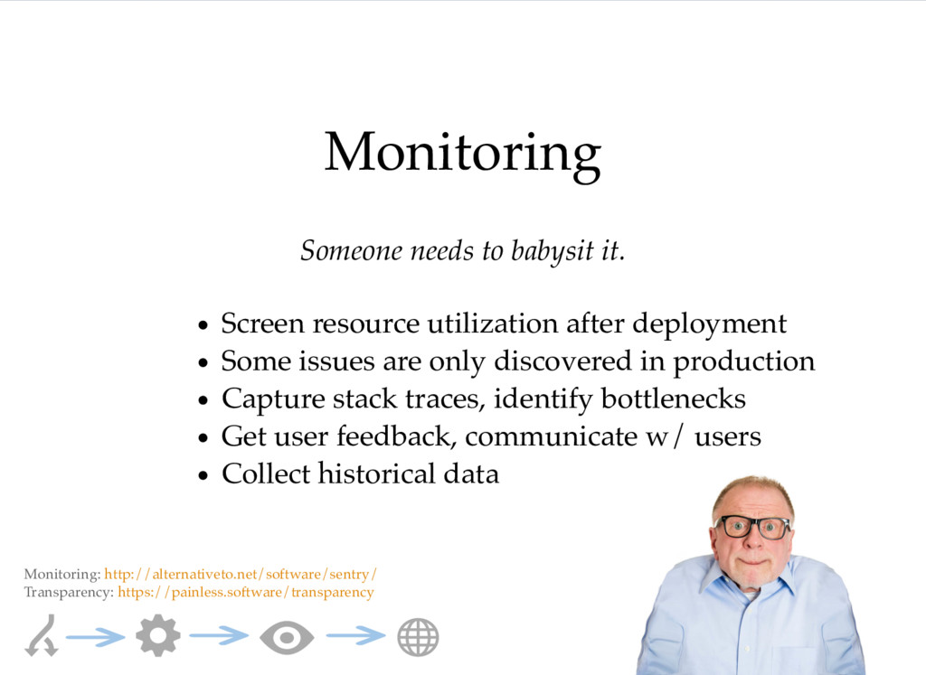 Monitoring Someone needs to babysit it. Screen ...