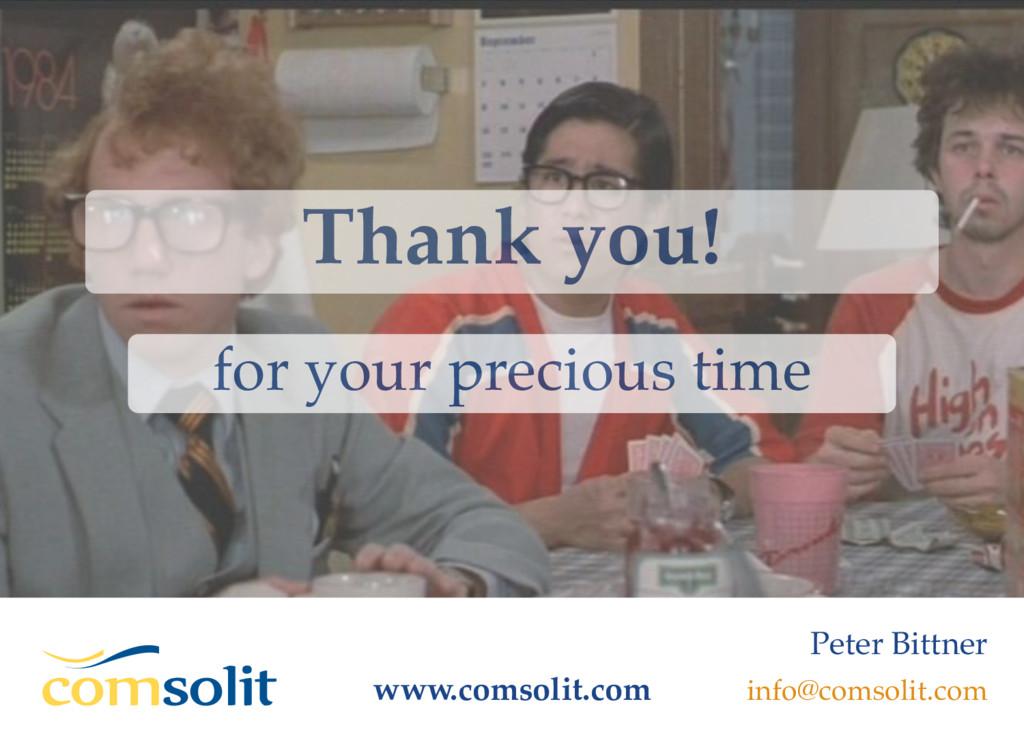 Thank you! www.comsolit.com for your precious t...