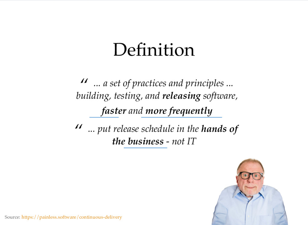 """Definition """" ... a set of practices and principl..."""