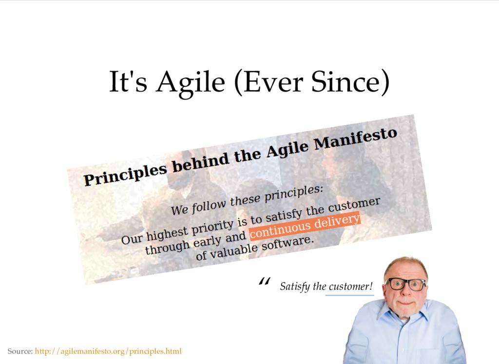 It's Agile (Ever Since) Source: http://agileman...