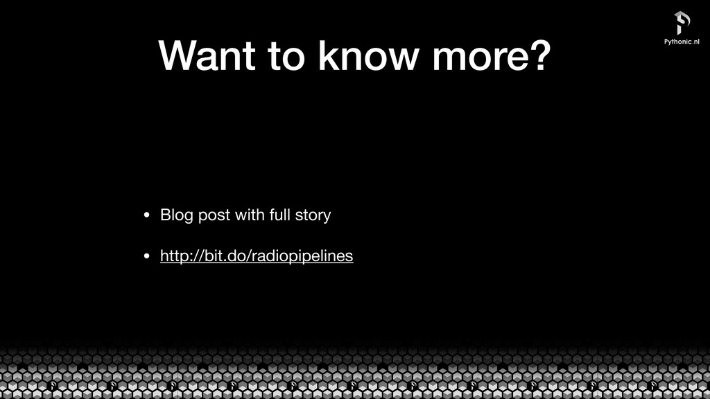 Want to know more? • Blog post with full story ...