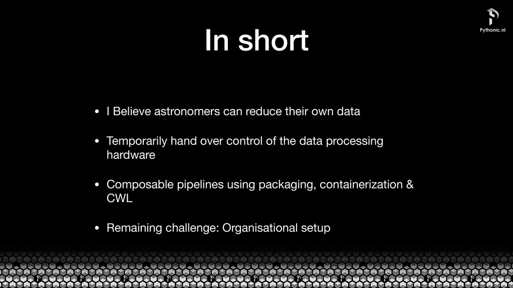 In short • I Believe astronomers can reduce the...