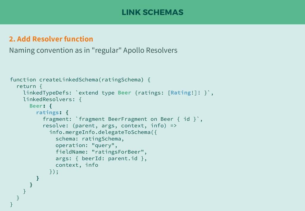 LINK SCHEMAS 2. Add Resolver function Naming co...