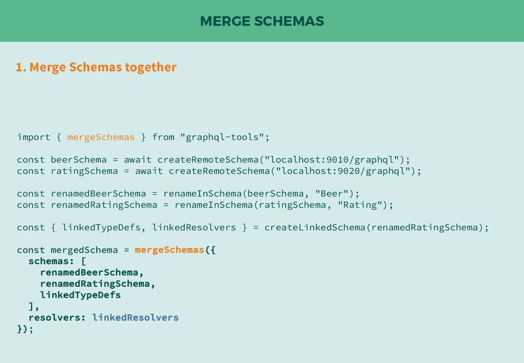 MERGE SCHEMAS 1. Merge Schemas together import ...