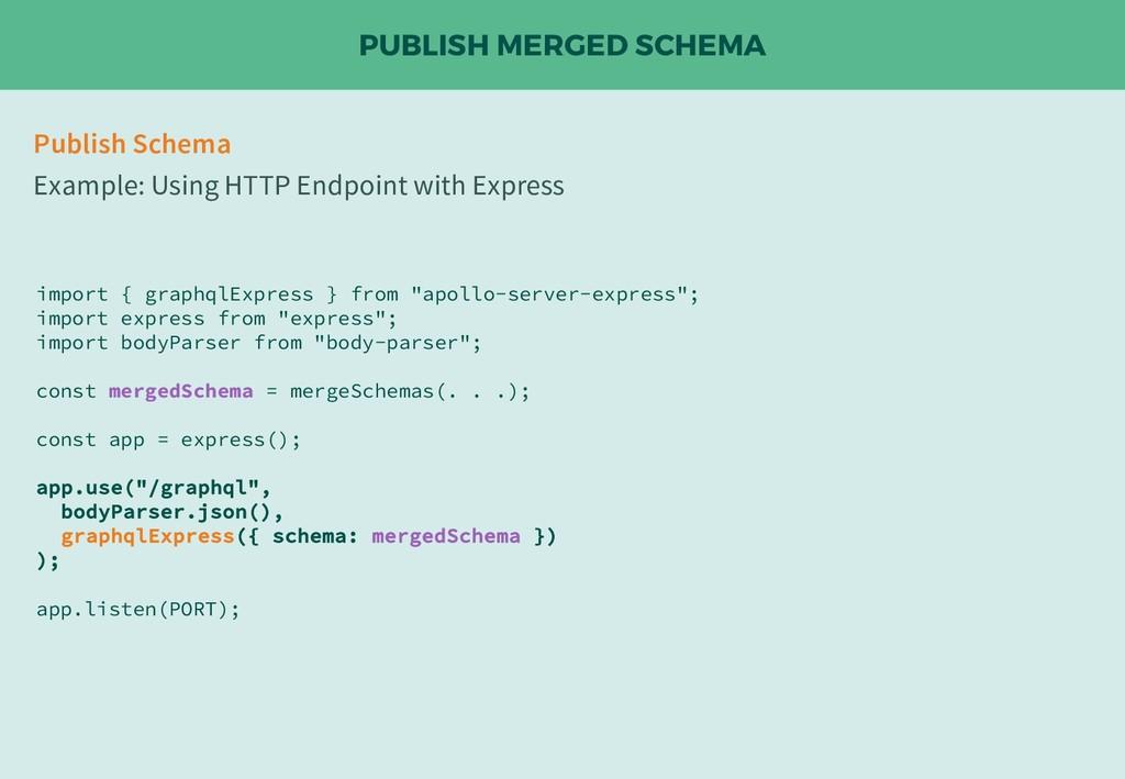PUBLISH MERGED SCHEMA Publish Schema Example: U...