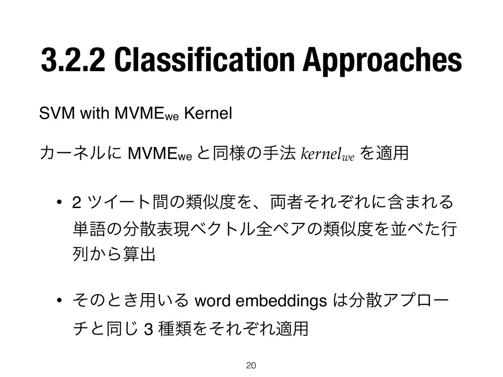 3.2.2 Classification Approaches SVM with MVMEwe ...