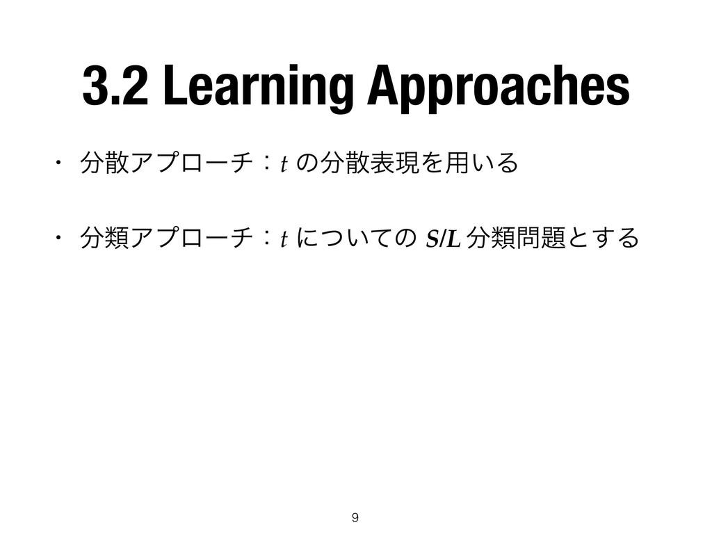 3.2 Learning Approaches • Ξϓϩʔνɿt ͷදݱΛ༻͍Δ •...