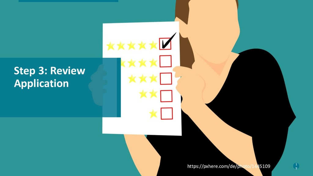 19 Step 3: Review Application 1 9 https://pxher...