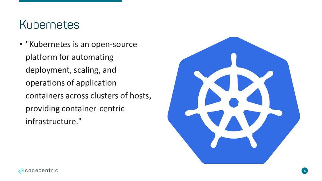 "• ""Kubernetes is an open-source platform for au..."