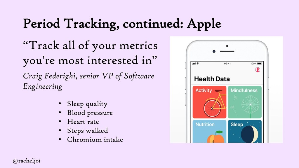 """Period Tracking, continued: Apple """"Track all of..."""