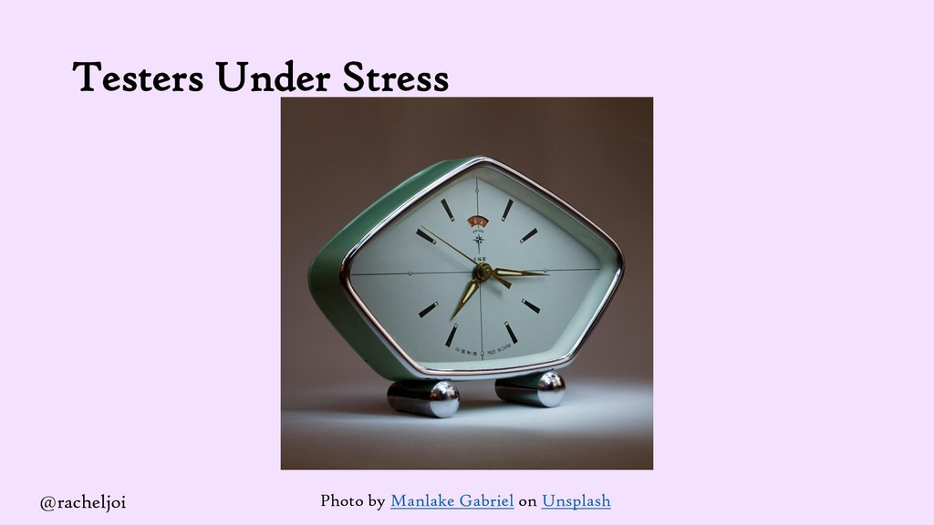 Testers Under Stress Photo by Manlake Gabriel o...