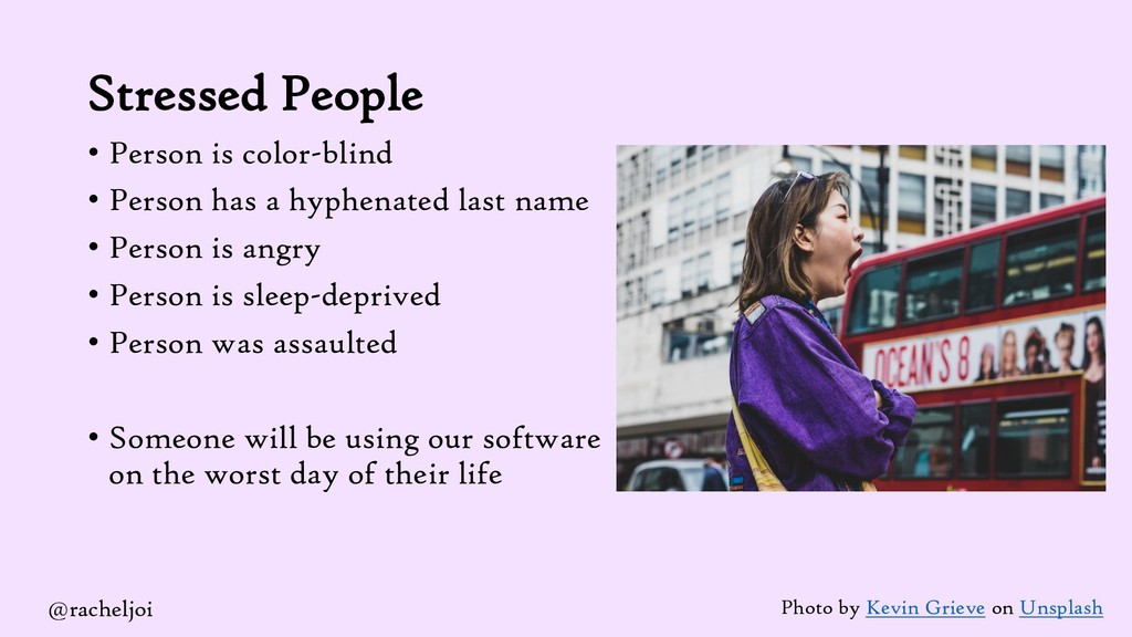 Stressed People • Person is color-blind • Perso...