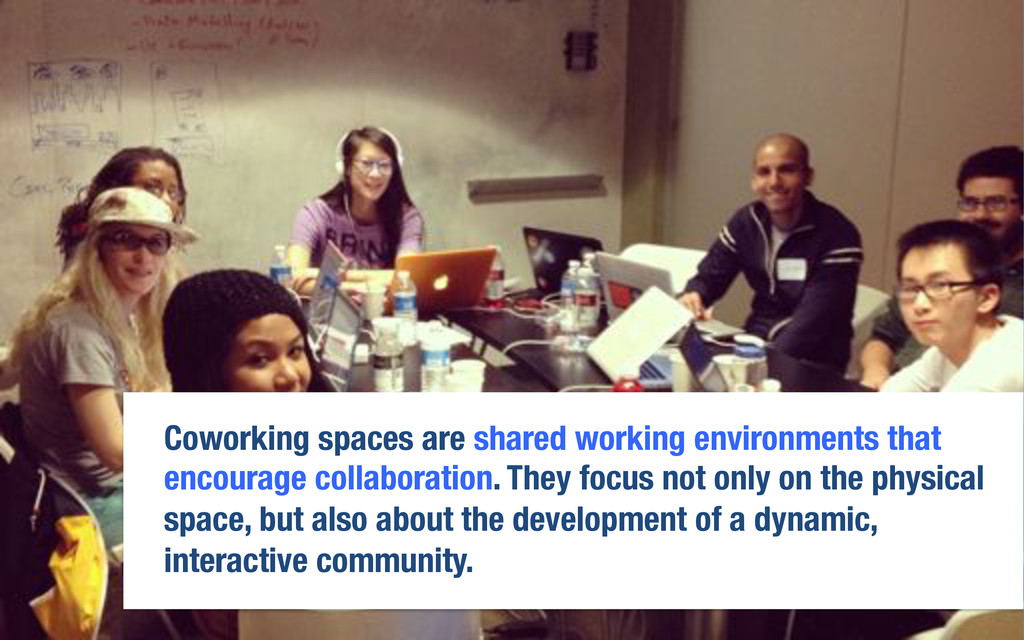 Coworking spaces are shared working environment...