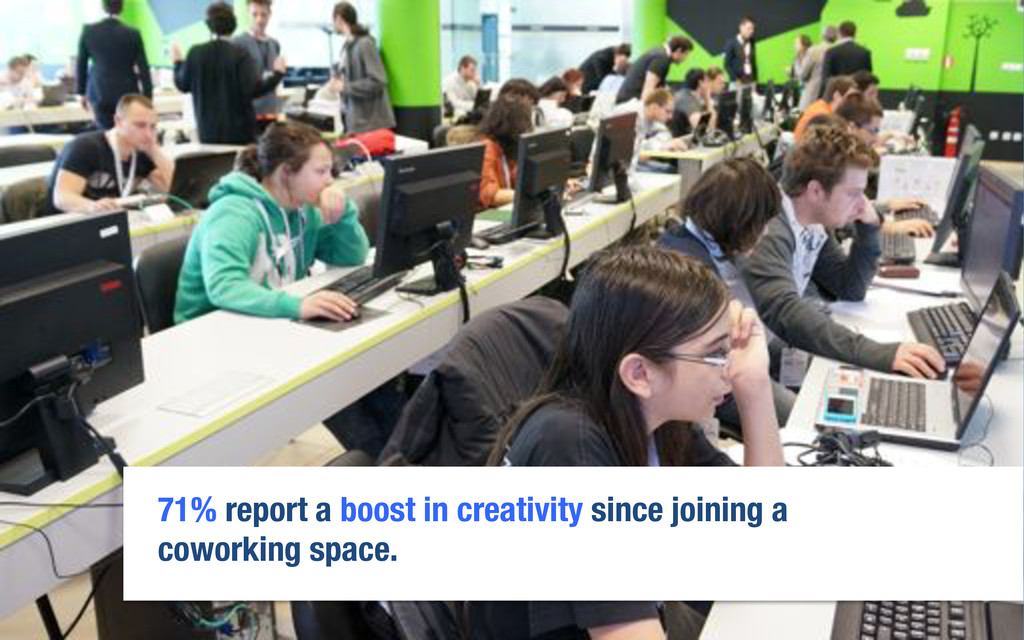 71% report a boost in creativity since joining ...