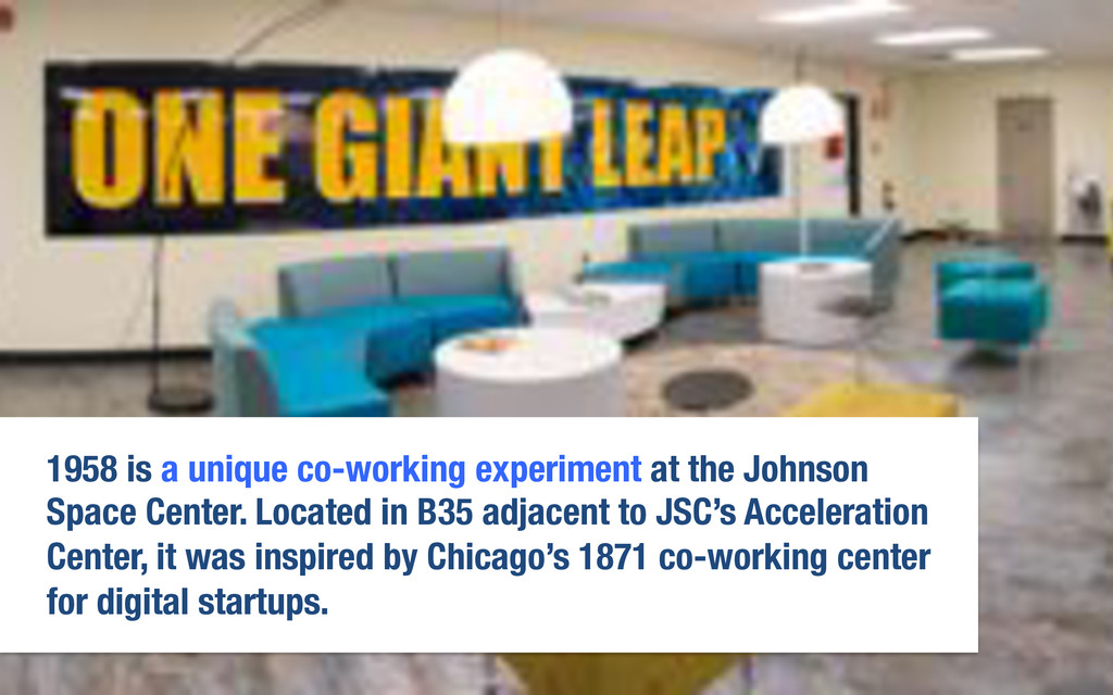 1958 is a unique co-working experiment at the J...