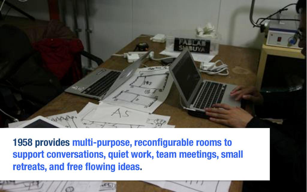1958 provides multi-purpose, reconfigurable room...