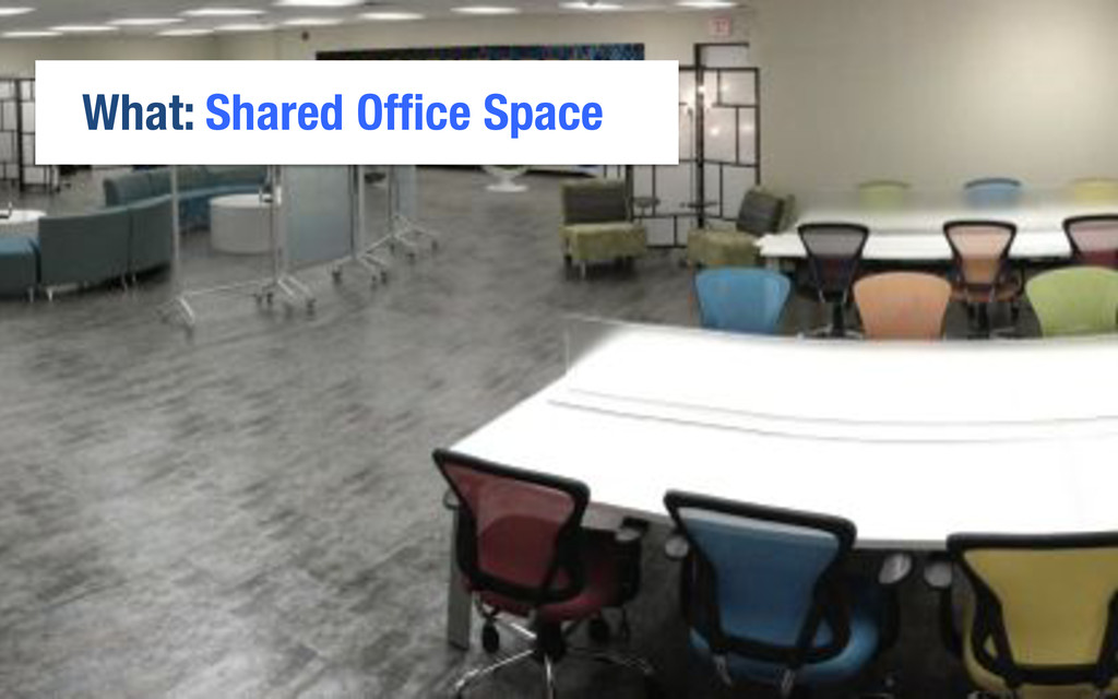 What: Shared Office Space
