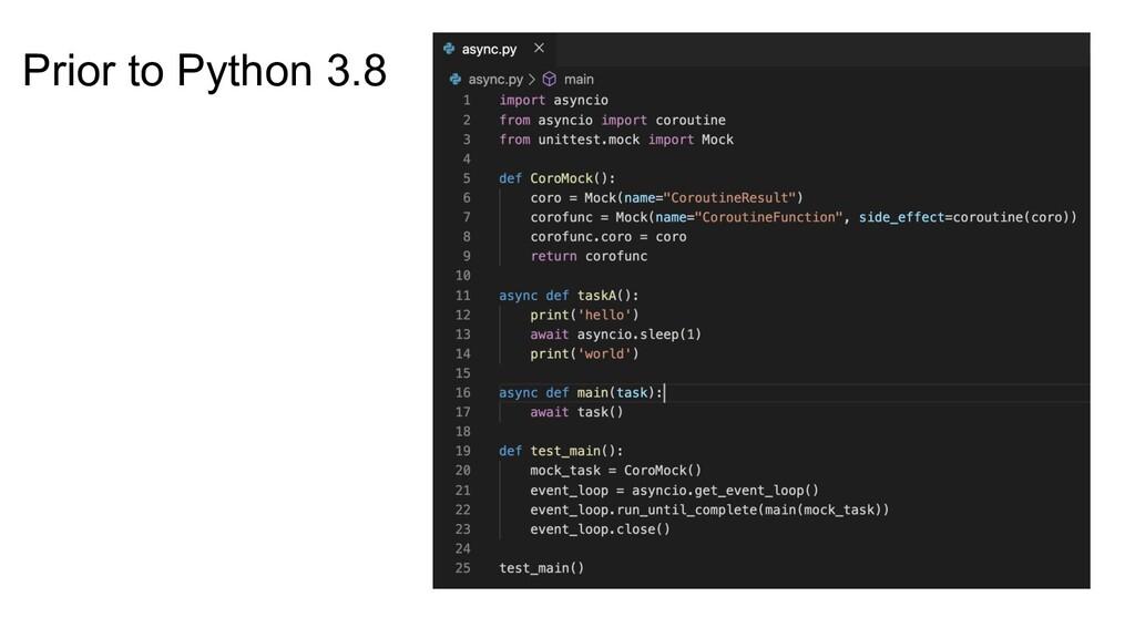 Prior to Python 3.8
