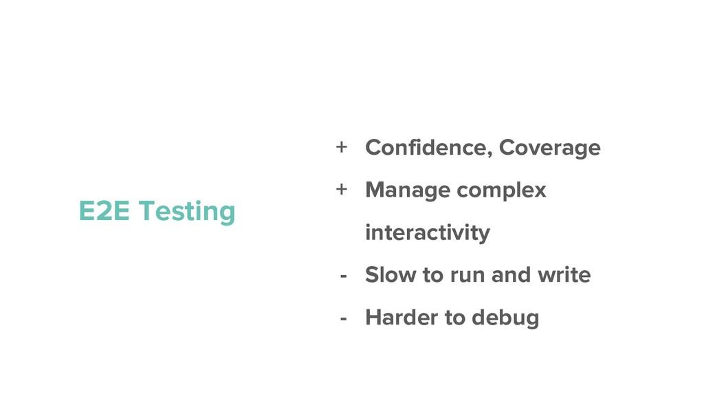 + Confidence, Coverage + Manage complex interac...