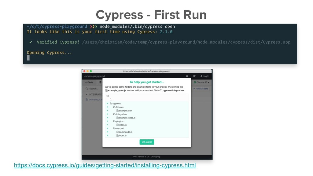 Cypress - First Run https://docs.cypress.io/gui...