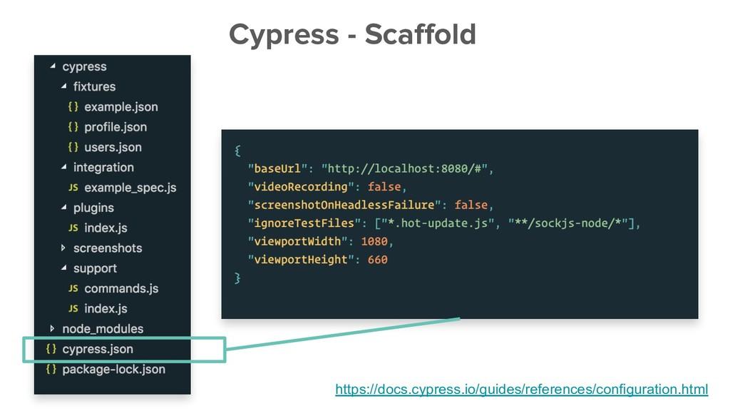 Cypress - Scaffold https://docs.cypress.io/guid...